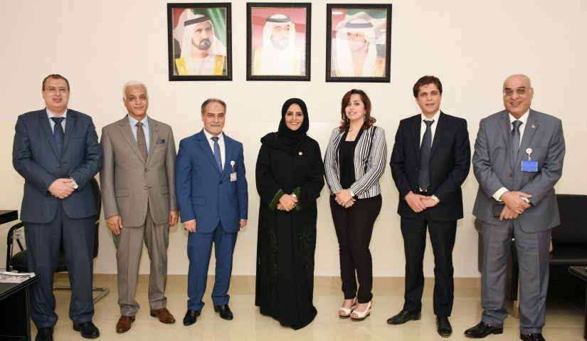 Ms. Naama Al Sharhan of the Federal National Council Visits AFU