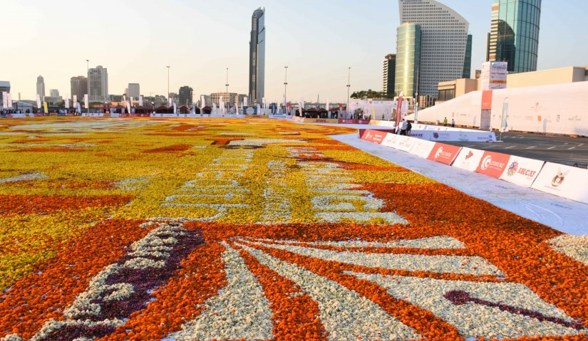 Assembling the Largest Natural Flower Carpet in The World